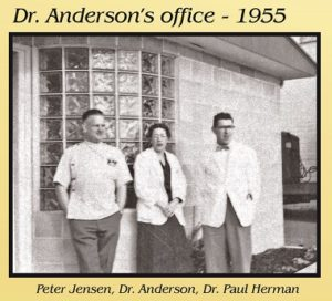 Dr Anderson in front of her office